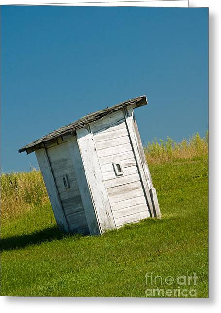 Clapboard House Greeting Cards - Outhouse Greeting Card by Richard and Ellen Thane