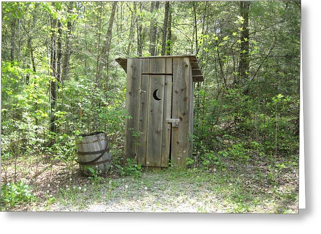 Outhouses Greeting Cards - Outhouse Greeting Card by Robin Vargo