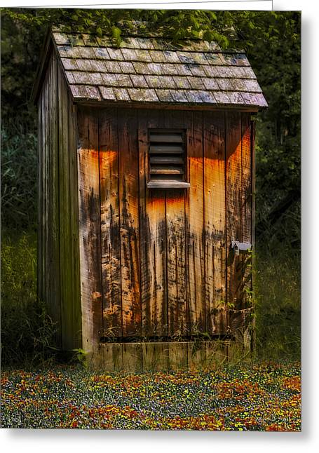 Antique Outhouse Greeting Cards - Outhouse Shack Greeting Card by Susan Candelario