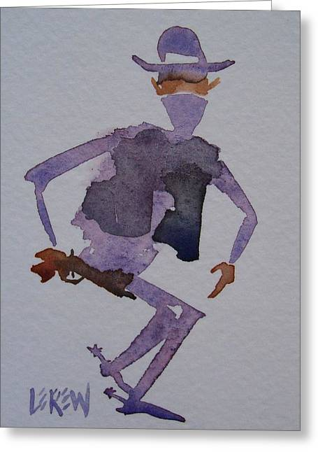 Bad Drawing Greeting Cards - Outlaw Bandit Greeting Card by Larry Lerew