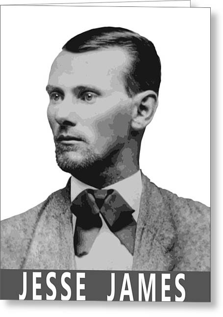 Woodson Greeting Cards - Outlaw Jesse James Greeting Card by Daniel Hagerman