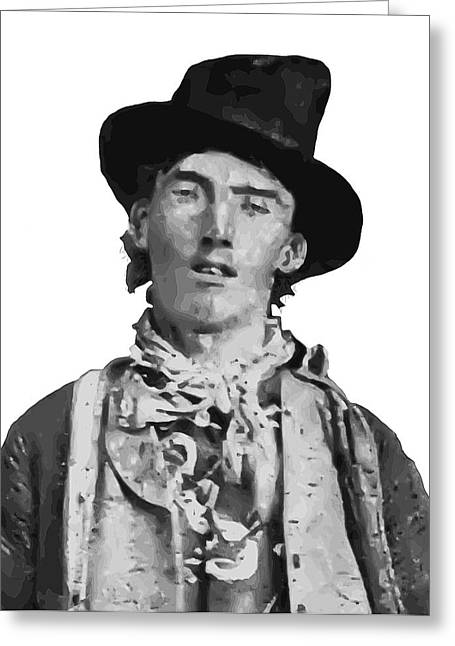 Billy The Kid Greeting Cards - OUTLAW LEGEND BILLY the KID Greeting Card by Daniel Hagerman