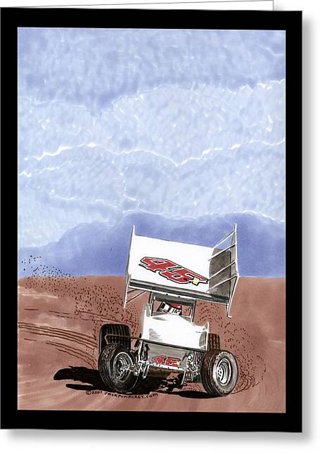 Purchase Greeting Cards - Outlaw Race Car Greeting Card by Jack Pumphrey