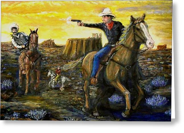 Outlaw Trail Greeting Card by Larry E Lamb
