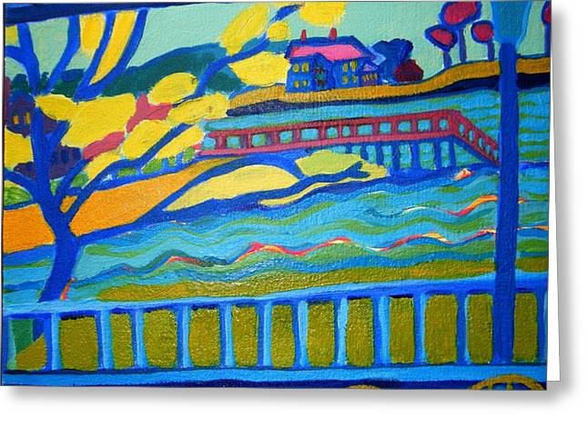 Mansion By The Ocean Greeting Cards - Outlook Greeting Card by Debra Bretton Robinson