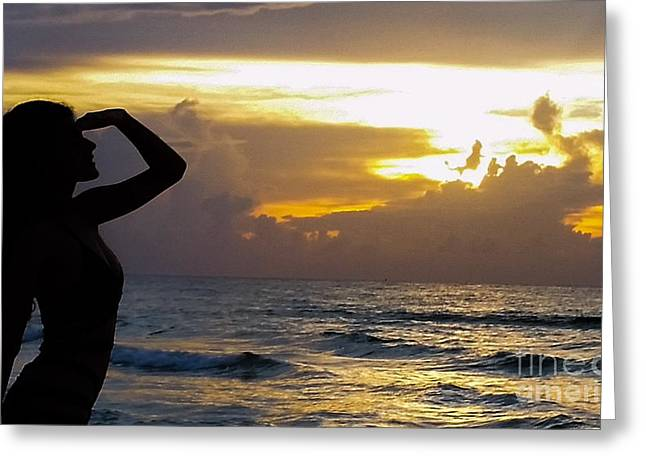 Outlook Greeting Cards - Outlook on the Sunrise Greeting Card by Luis Moya
