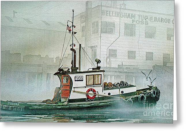 Barges Greeting Cards Greeting Cards - Outport Greeting Card by James Williamson