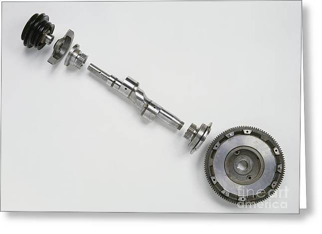 Take-out Greeting Cards - Output Shaft Of Diesel Engine Greeting Card by Dorling Kindersley