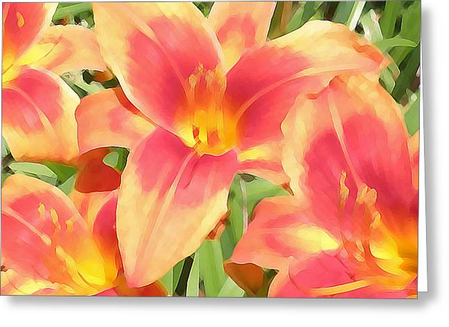 Outrageous Lilies Greeting Card by Jean Hall