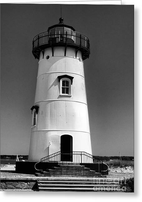 Porthole Greeting Cards - Outside Edgartown Lighthouse Greeting Card by Mark Miller