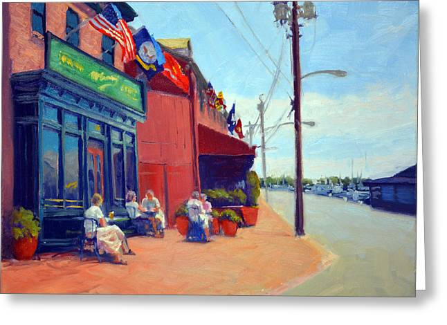 Annapolis Maryland Greeting Cards - Outside McGarveys Greeting Card by Armand Cabrera