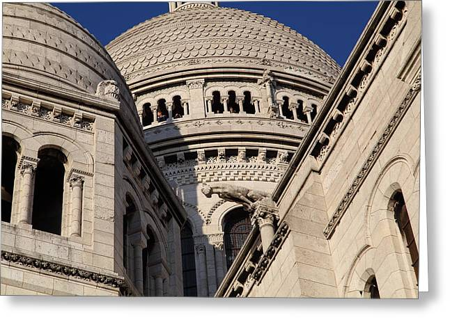 The Photographs Greeting Cards - Outside the Basilica of the Sacred Heart of Paris - Sacre Coeur - Paris France - 011310 Greeting Card by DC Photographer
