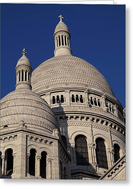 No Greeting Cards - Outside the Basilica of the Sacred Heart of Paris - Sacre Coeur - Paris France - 01138 Greeting Card by DC Photographer