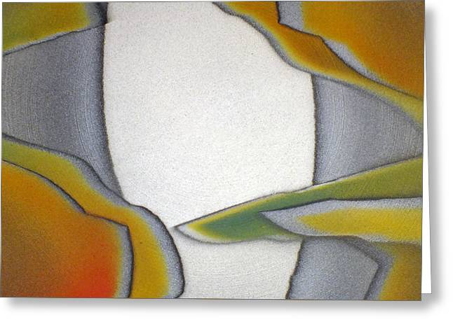 Ceramic Glazes Greeting Cards - Outside The Box Greeting Card by Bill Morgenstern