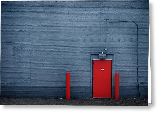 Exterior Wall Greeting Cards - Outside the Building - Urban Minimalism Greeting Card by Nikolyn McDonald