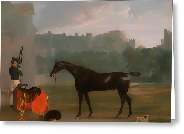 Classic Saddle Greeting Cards - Outside the Guardhouse at Windsor Greeting Card by Edmund Bristow
