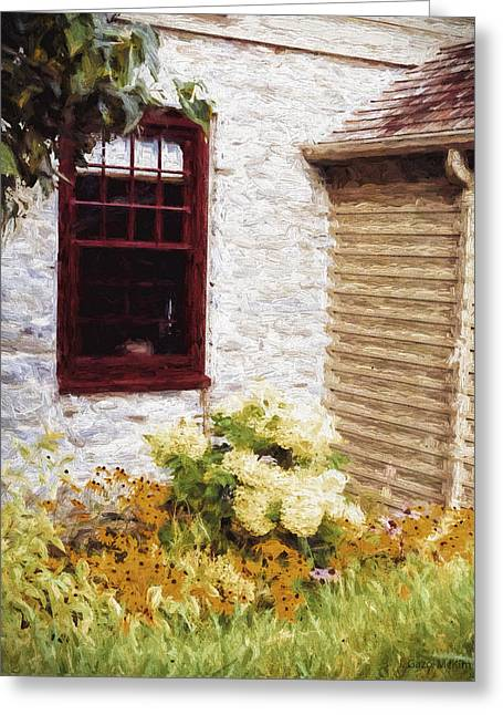 Overhang Greeting Cards - Outside the Window Greeting Card by Jo-Anne Gazo-McKim