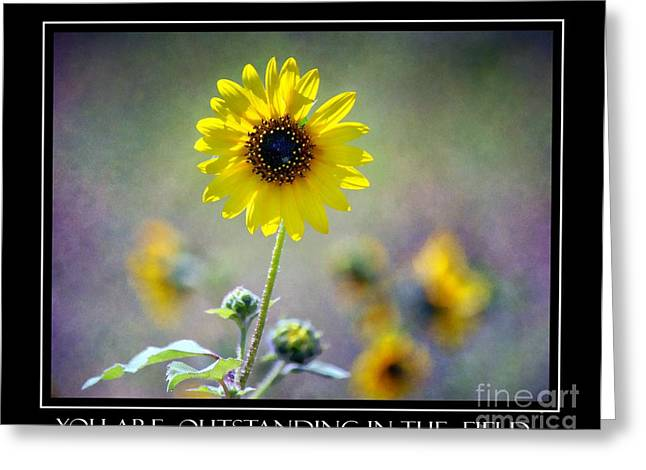 Abstract Expression Greeting Cards - Outstanding in the Field Greeting Card by Barbara Chichester