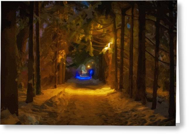 Landscape Framed Prints Greeting Cards - Outumn Landscape Greeting Card by Victor Gladkiy