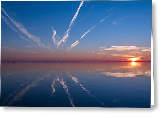 Bassin Greeting Cards - Ouverture Greeting Card by Thierry Bouriat