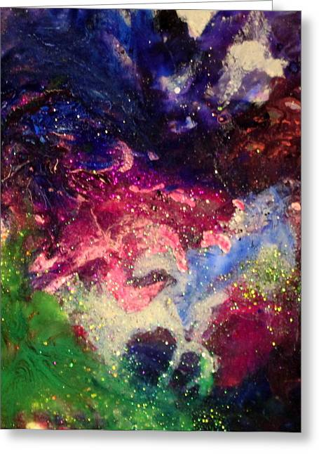 Splashy Paintings Greeting Cards - Olivia Greeting Card by Kathleen Fowler
