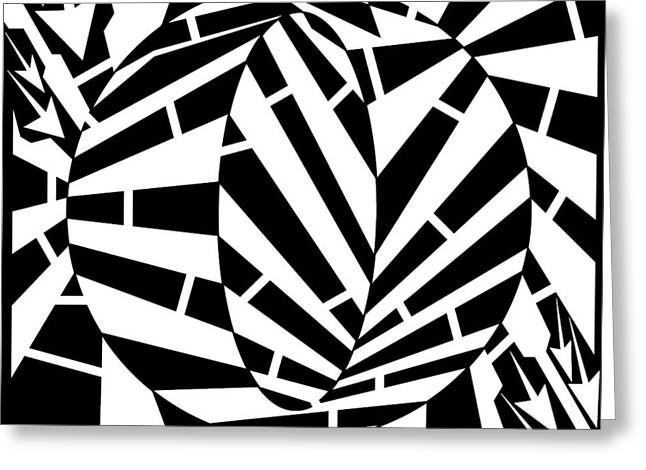 Distortion Drawings Greeting Cards - Oval Circle Distortion Maze  Greeting Card by Yonatan Frimer Maze Artist