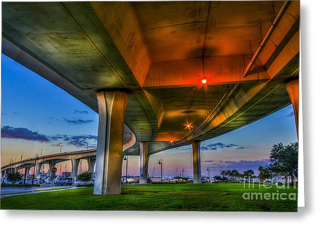 Florida Bridge Greeting Cards - Over and Beyond Greeting Card by Marvin Spates