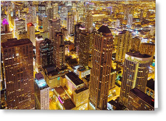 Over Chicago Greeting Card by Joel Olives