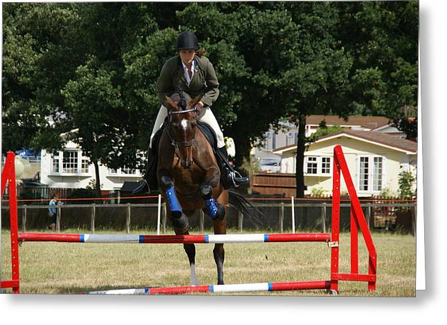 Showjumping Greeting Cards - Over Greeting Card by JT Photography