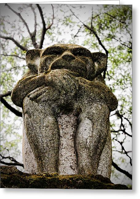 Garden Statuary Greeting Cards - Over My Shoulder Greeting Card by K Hines