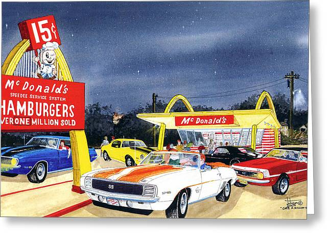 Car Framed Prints Greeting Cards - Over One Million Sold Greeting Card by Larry Johnson