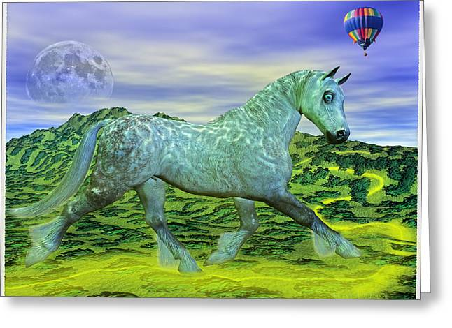 Fantasy World Greeting Cards - Over Ozs Rainbow Greeting Card by Betsy A  Cutler