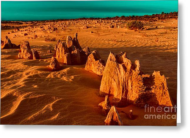 Petrified Greeting Cards - Over Ten Thousand Years Ago Greeting Card by Julian Cook