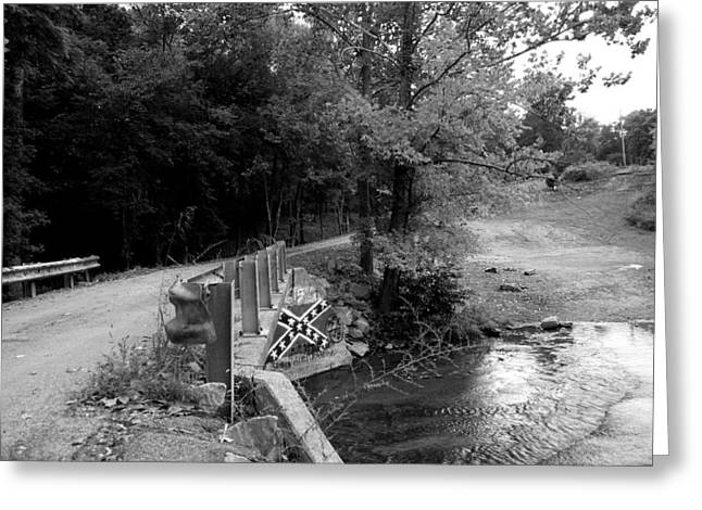 Confederate Flag Greeting Cards - Over the creek Greeting Card by Thea Suits
