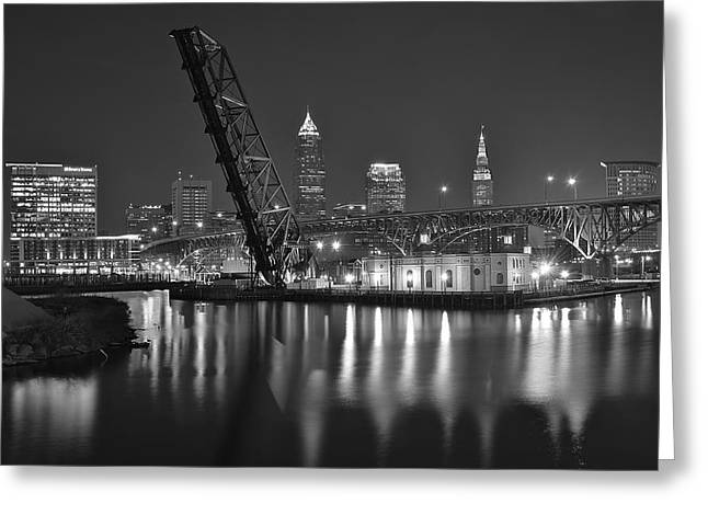Over The Cuyahoga Greeting Card by Frozen in Time Fine Art Photography