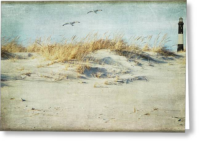 Shell Texture Greeting Cards - Over The Dune Greeting Card by Cathy Kovarik