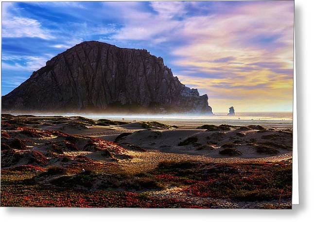 Morro Bay Greeting Cards - Over the Edge Greeting Card by Camille Lopez