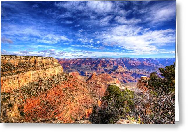 Old West Postcards Greeting Cards - Over the Edge Greeting Card by Dave Files