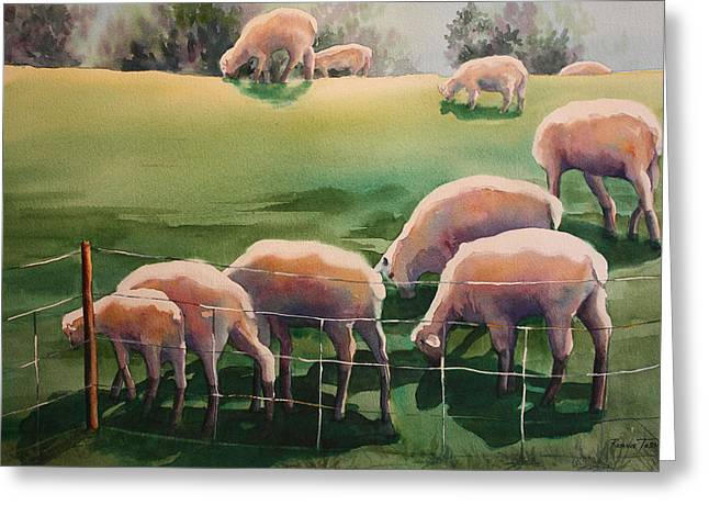 Over The Hill Greeting Card by Roxanne Tobaison