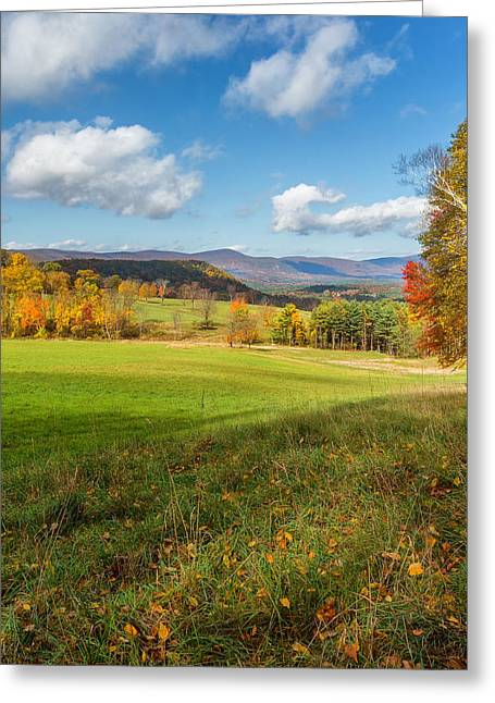 Over The Hills Square Greeting Card by Bill Wakeley