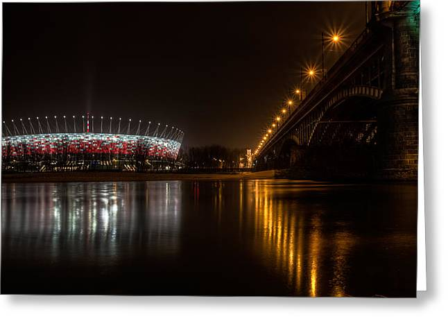Euro 2012 Greeting Cards - Over the River Greeting Card by Jakub Jurkowski