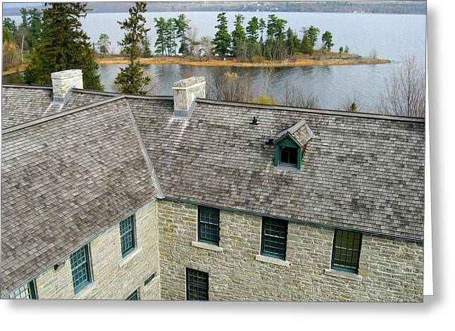 Aerial Greeting Cards - Over the Roof - Pinheys Point Ontario Greeting Card by Rob Huntley