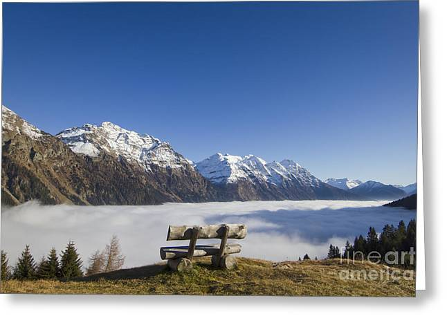 Ble Sky Greeting Cards - Over the sea fog Greeting Card by Maurizio Bacciarini