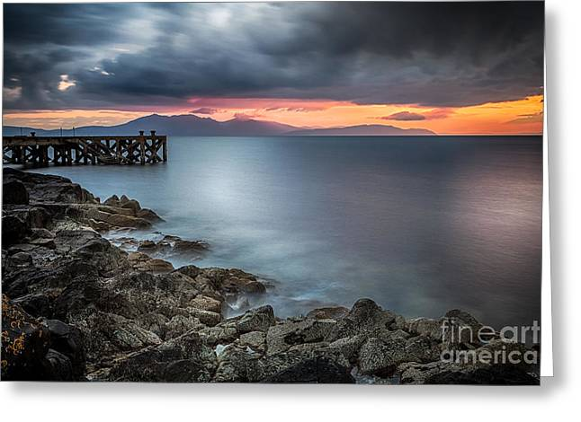 Ayrshire Greeting Cards - Over The Sea Greeting Card by John Farnan