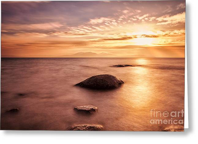 Ayrshire Greeting Cards - Over the sea to Arran Greeting Card by John Farnan