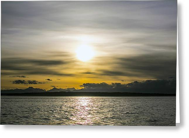 Puget Sound Greeting Cards - Over the Sound Greeting Card by Michael DeMello