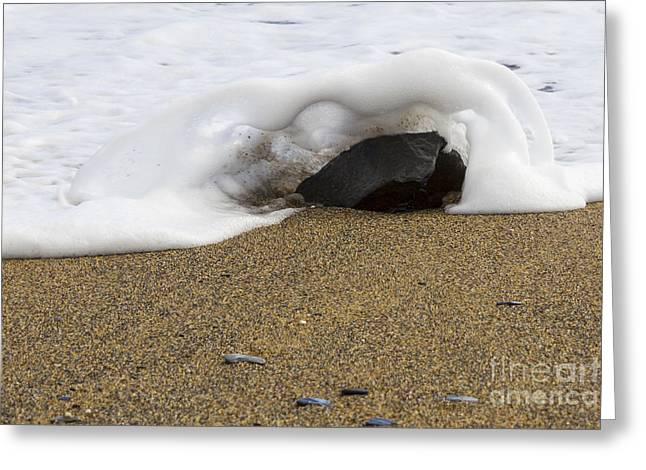 Cornish Beaches Greeting Cards - Over the Top Greeting Card by Brian Roscorla