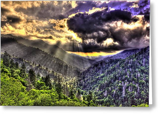 Gatlinburg Tennessee Greeting Cards - Over the Top Greeting Card by Reid Callaway