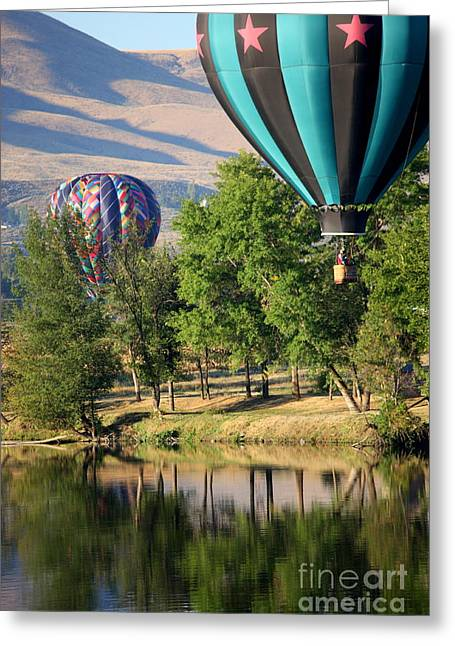 Yakima Valley Greeting Cards - Over the Trees and into the River Greeting Card by Carol Groenen