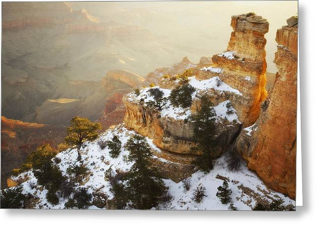 Yaki Greeting Cards - Over Time Greeting Card by Peter Coskun